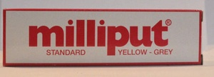 Milliput Yellow Grey Epoxy Putty 4oz